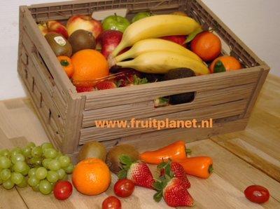 fruitmand op het werk