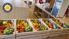 fruitmand op kantoor Leiden